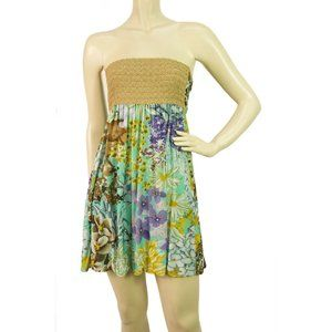 Missoni Gold Metallic knitted Strapless Floral fab
